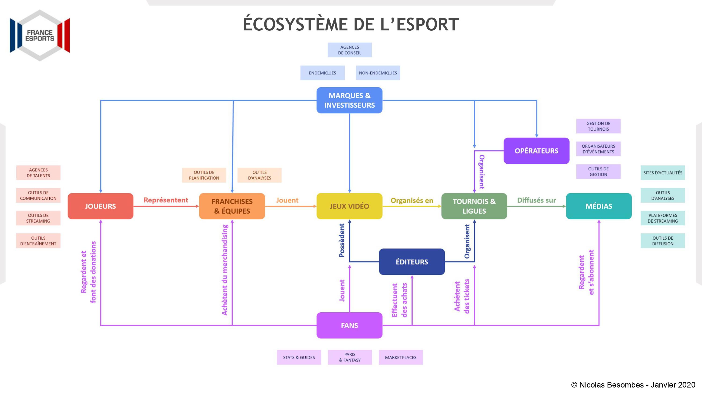 Ecosystème de l'esport selon France Esports